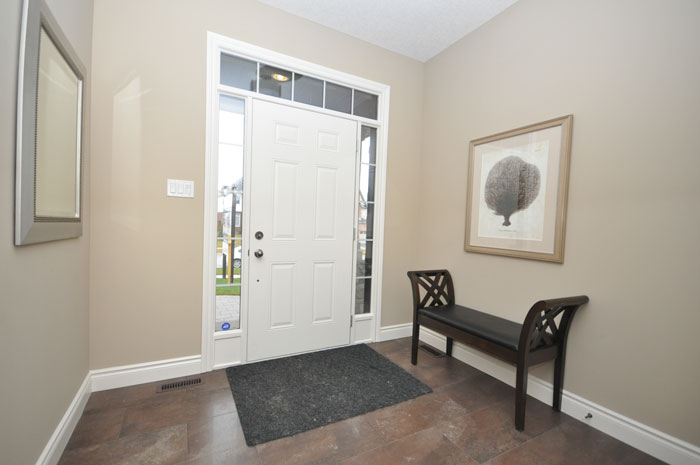 Royal Premier Homes - Eco Friendly Home Builders London - Beaverbrook II - White Door Entrance