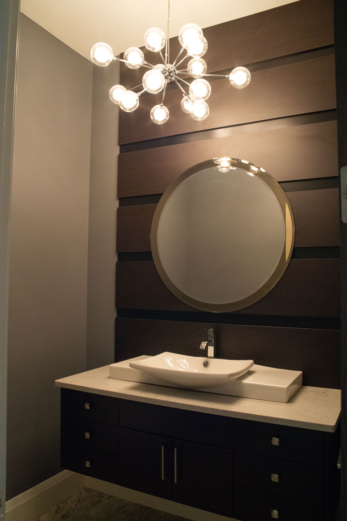 Royal Premier Homes - Eco Friendly Home Builders London - Cranbrook I - Wash Room with Mirror and Lights