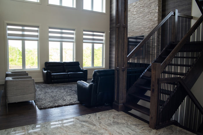 Royal Premier Homes - Eco Friendly Home Builders London - Cranbrook I - Living Room and Stairs
