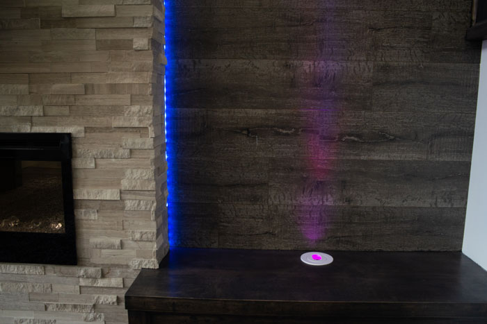 Royal Premier Homes - Eco Friendly Home Builders London - Cranbrook I - Table with Colored Light