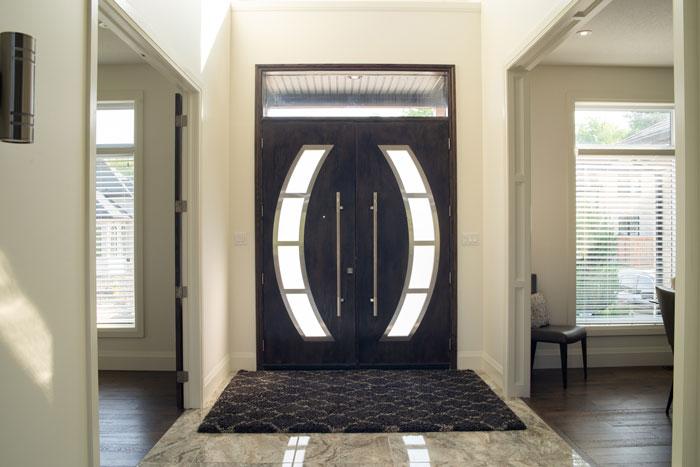 Royal Premier Homes - Eco Friendly Home Builders London - Cranbrook I - Black Door Entrance
