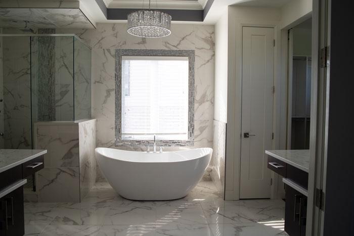 Royal Premier Homes - Eco Friendly Home Builders London - Cranbrook I - White Bathroom with Bath Tub