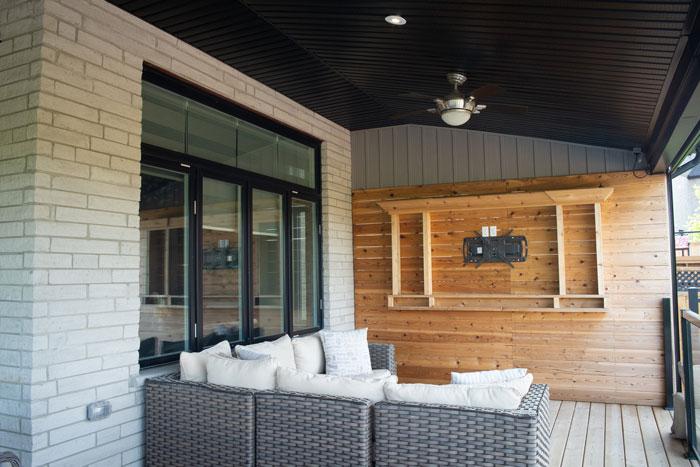Royal Premier Homes - Eco Friendly Home Builders London - Cranbrook I - Balcony with Sofa