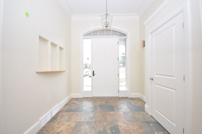 Royal Premier Homes - Eco Friendly Home Builders London - Crestwood II - White Door Entrance