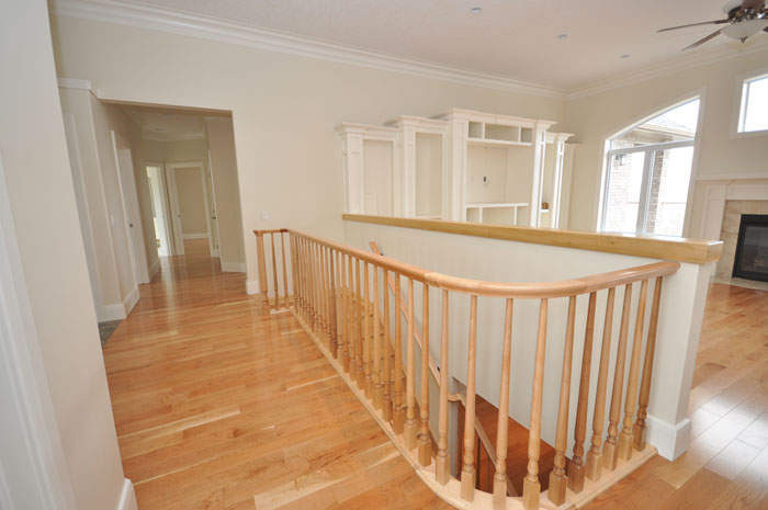 Royal Premier Homes - Eco Friendly Home Builders London - Crestwood II - Empty Room and Stairs