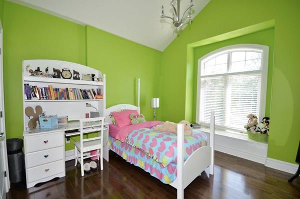Royal Premier Homes - Eco Friendly Home Builders London - Crestwood I - Kids Bedroom Painted with Green