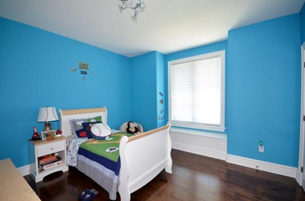 Royal Premier Homes - Eco Friendly Home Builders London - Crestwood I - Kids Bedroom Painted with Blue