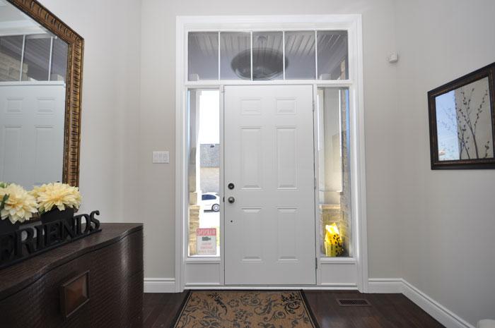 Royal Premier Homes - Eco Friendly Home Builders London - Tamarack - White Door Entrance